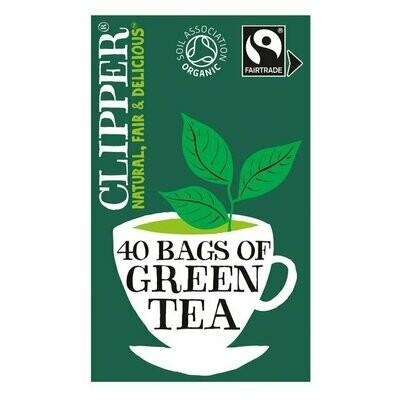 Clipper Organic Fairtrade Green Tea 40 Bags