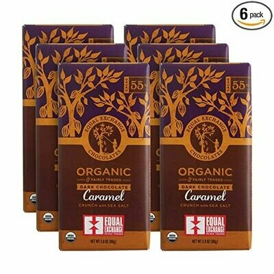 Equal Exchange Organic Dark Chocolate Caramel Crunch With Sea Salt 100g