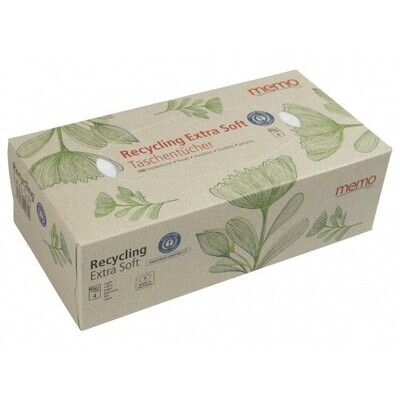 Memo Extra Soft 4-Ply Recycled Tissue Pack 100pcs