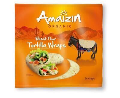 Amaizin' Organic Wheat Flour Tortilla Wraps 6pcs