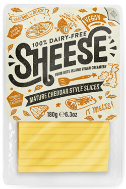 Bute Island Sheese Vegan Mature Cheddar Slices 180g