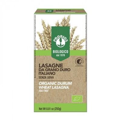 Probios Organic Durum Wheat Lasagna Sheets Egg Free 250g