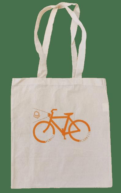 Small Changes Organic Tote: Bike