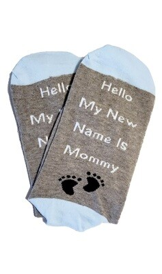 Hello My New Name is Mommy Sock Pregnancy Gift | Delivery Gift