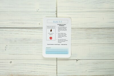 Printable Monthly Pregnancy Journal Cards - Baby Blue | Digital Download