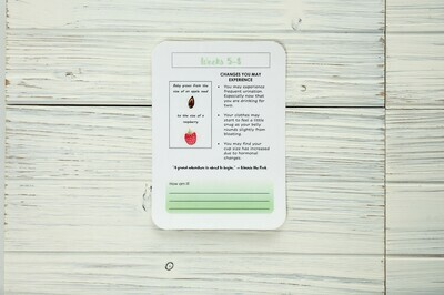 Printable Monthly Pregnancy Journal Cards - Sage Green | Digital Download