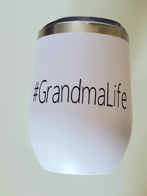 #GrandmaLife Travel Coffee/Wine Tumbler   Pregnancy Announcement