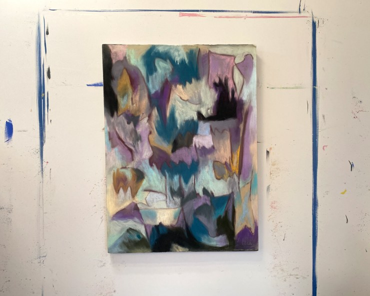 Intrepid Landscape, Emma Neuberg, pastel on paper and canvas, 30 x 22 inches, (76cm x 56cm), 2015.