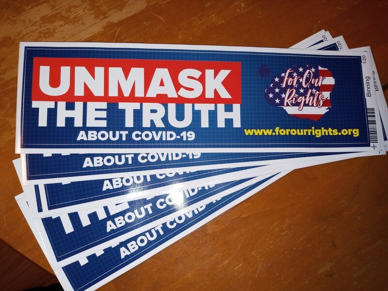 UnMask The Truth About Covid-19 Bumper Stickers
