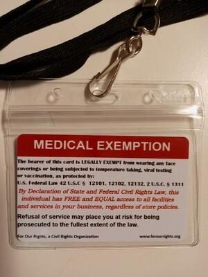 Medical Exemption Card