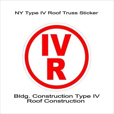 NY Type IV Roof Truss Sticker