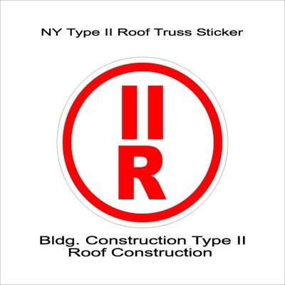 NY Type II Roof Truss Sticker
