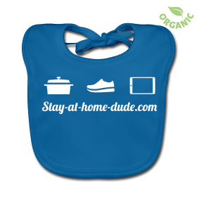 Stay-at-home-dude baby bib