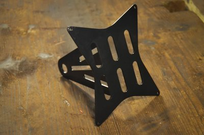 Swingarm Mounted Black License Plate Bracket