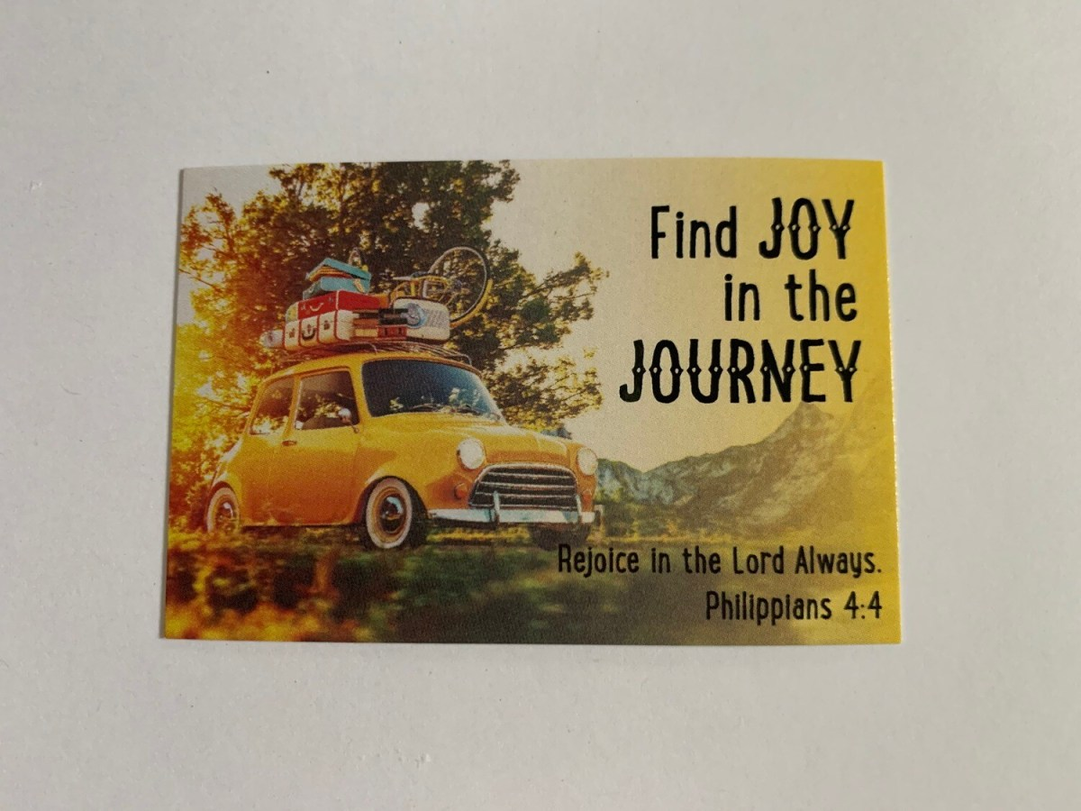 Pass It On - Find Joy in the Journey Phil. 4:4