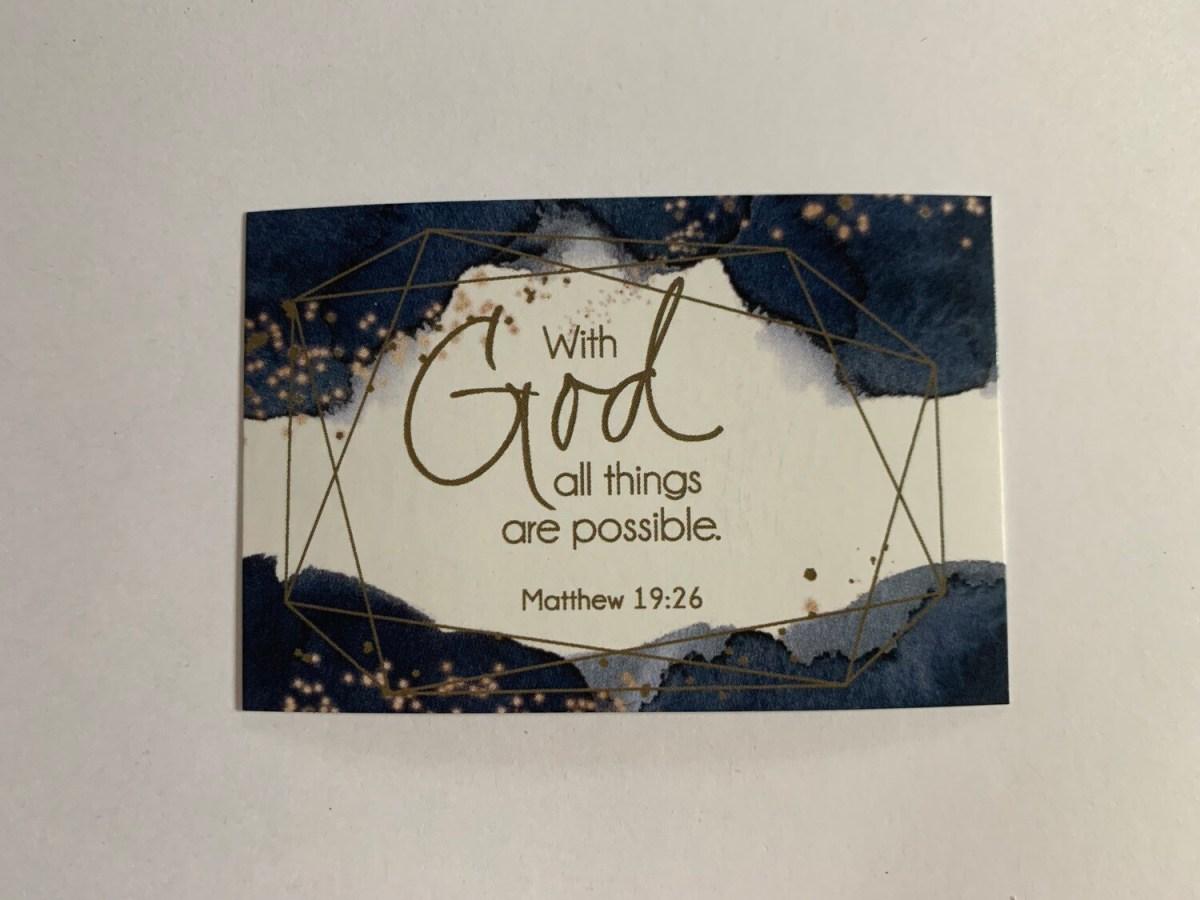 Pass It On - Matthew 19:26
