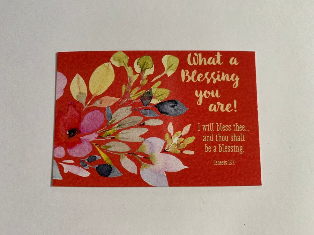 Pass It On - What a Blessing Gen. 12:2 (floral)