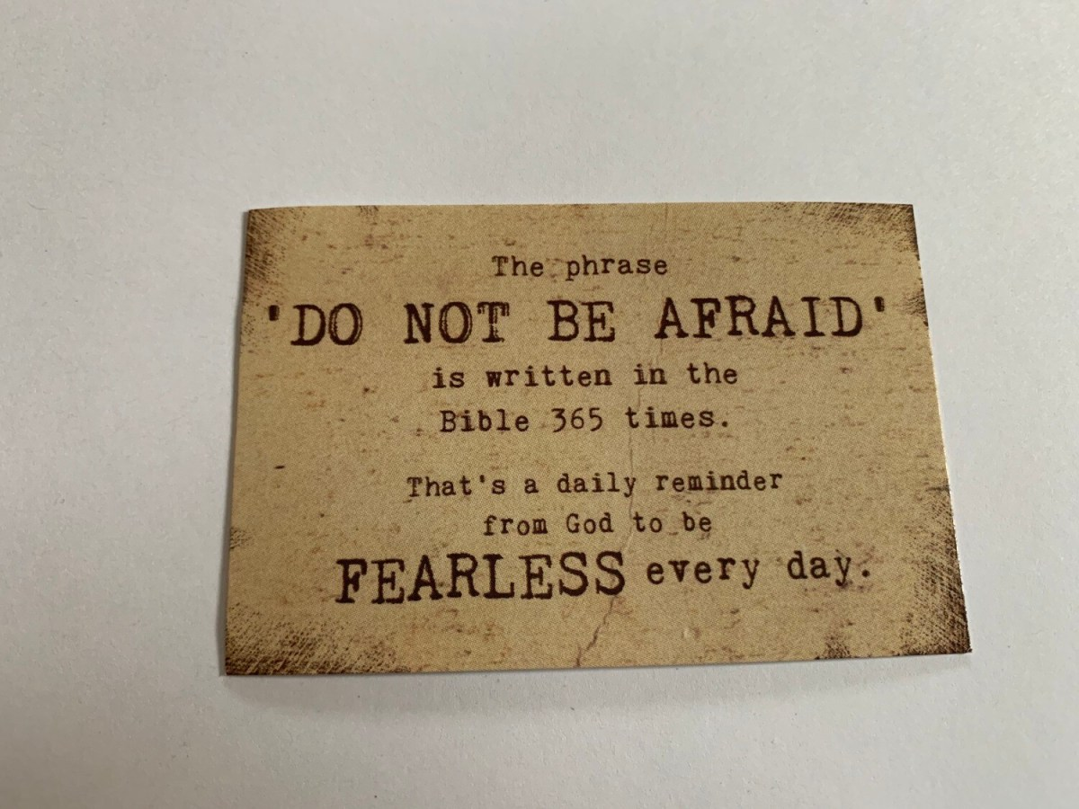 Pass It On - Do Not Be Afraid