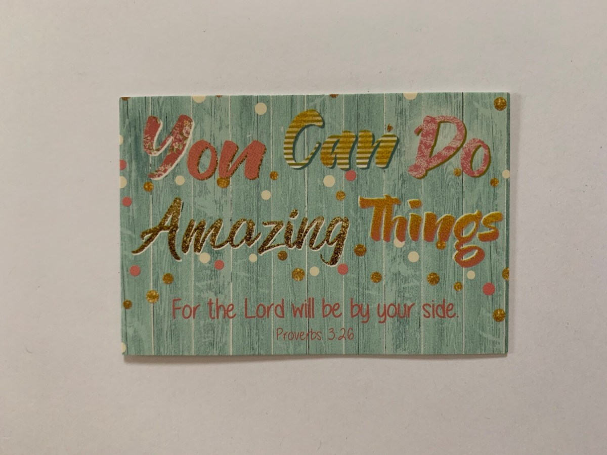 Pass It On - Amazing Things Proverbs 3:26