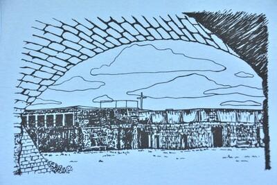 Light Blue Fort Caswell Tee