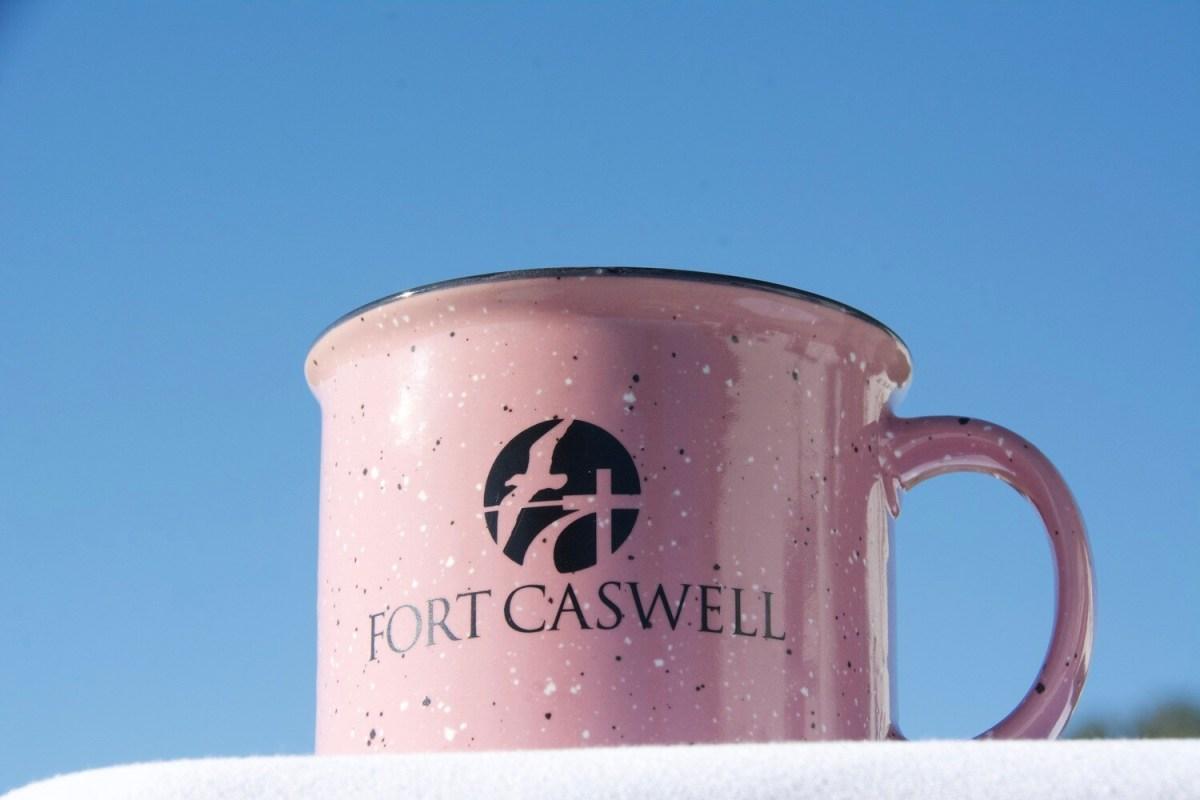 PINK FORT CASWELL CAMPFIRE MUG