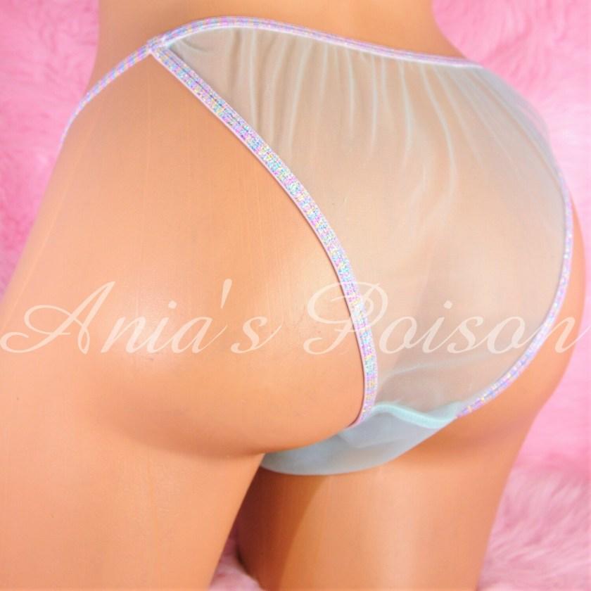 Sissy Mens MANties Sheer nylon Chiffon Brazilian Cut Cheeky Butt pouch panties S M L XL