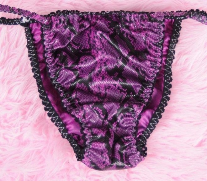 Ania's Poison MANties Vinyl Snake Skin Dancer string bikini Sissy naughty panties for men S - XXL