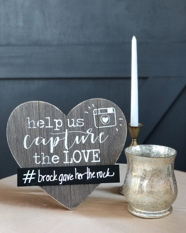 Capture the Love Hashtag Sign