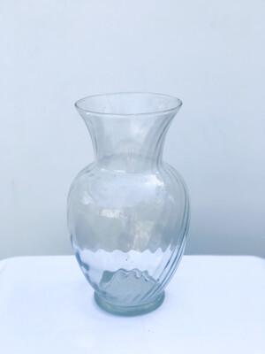 Large Ribbed Jardin Glass Vase
