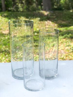 "Glass Cylinder Vase 10"" Tall"