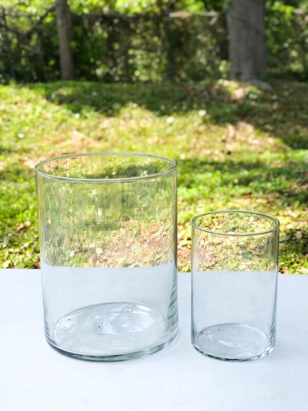 "Glass Cylinder Vase 8"" Tall"