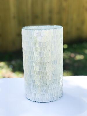 White Shell Vase