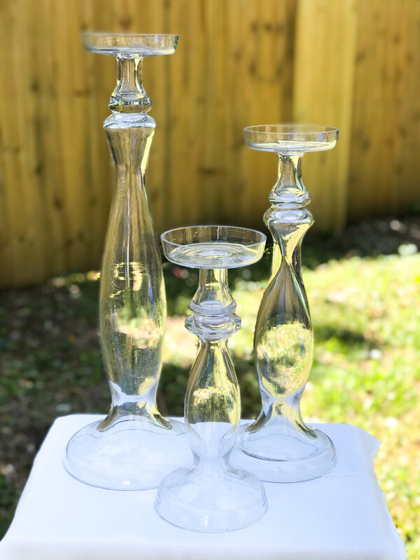 Glass Candle Holder For Pillar Candles