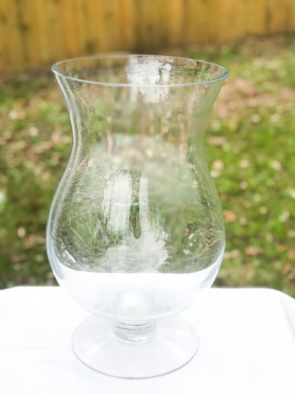 """Giant Hurricane Glass Vase 14"""" Tall"""