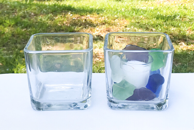 Square Glass Vase 3.5 Tall