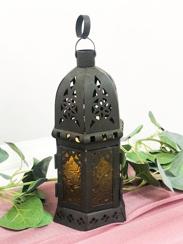 Brown Metal Lantern 8.5