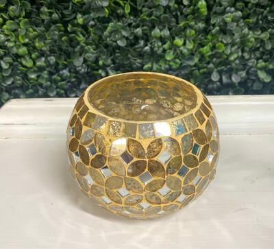 Gold Mosaic Centerpiece