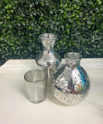 Silver Mercury Assorted Centerpieces
