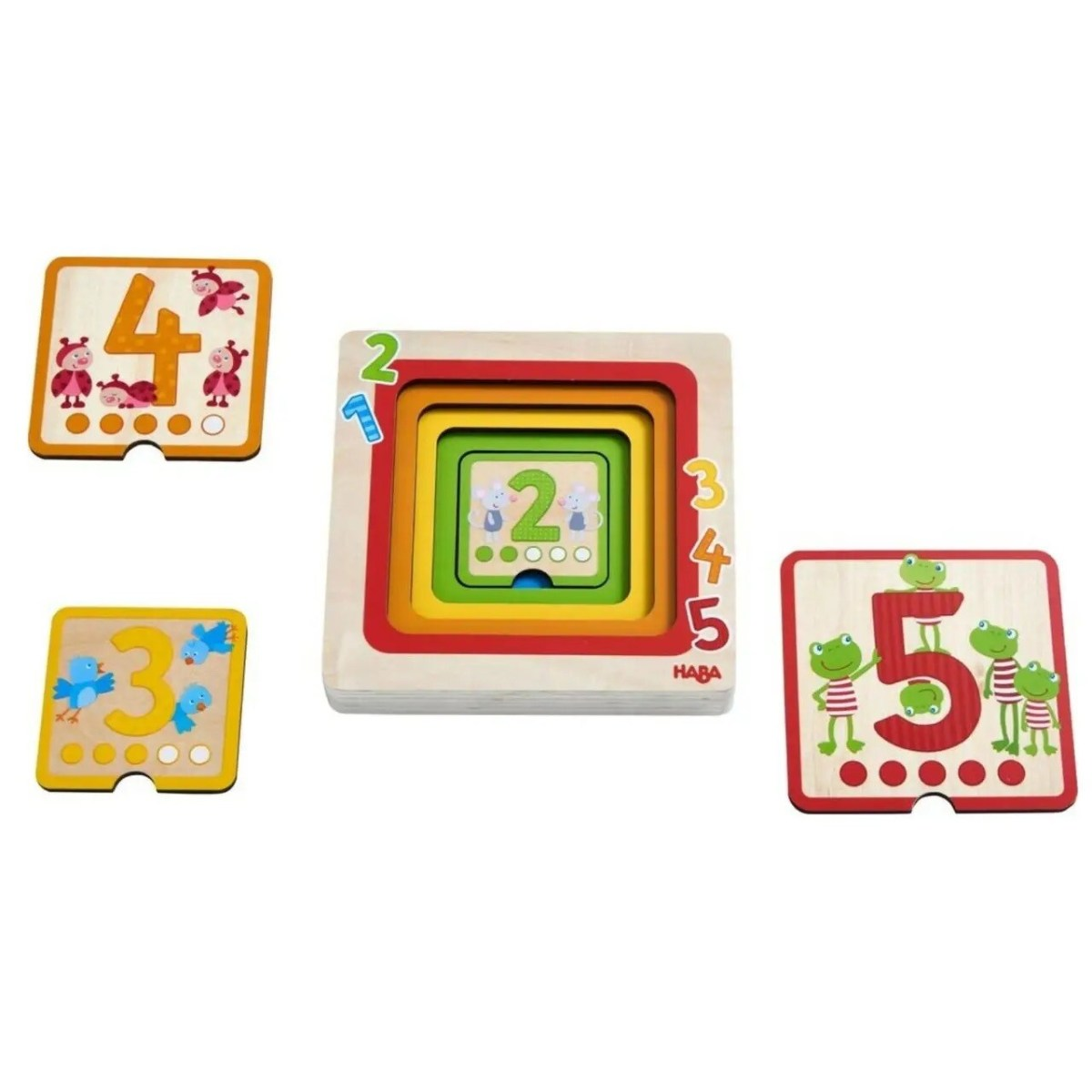 Wooden Counting Layering Puzzle