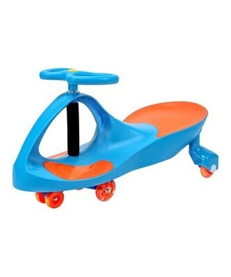 School Blue Premium LED-Wheel Swing Car Ride-On
