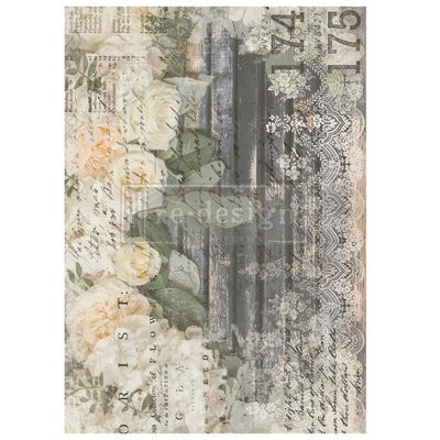 Prima Decor Transfer: White Fleur