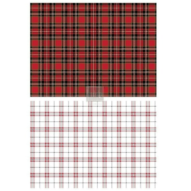 Prima Decor Transfer: Gingham Red
