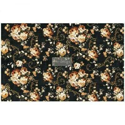 Decoupage Decor Tissue Paper: Dark Floral