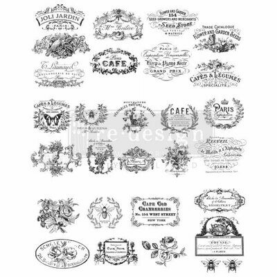 Prima Decor Transfer: Classic Vintage Labels