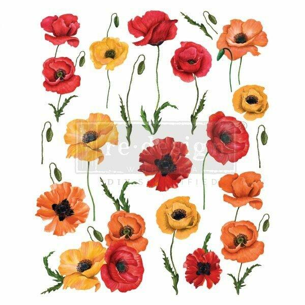 Prima Decor Transfer: Poppy Gardens