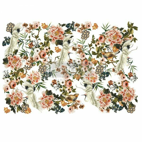 NEW! Prima Decor Transfer: Elegance and Flowers