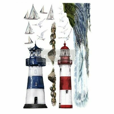 NEW! Prima Decor Transfer: Lighthouse