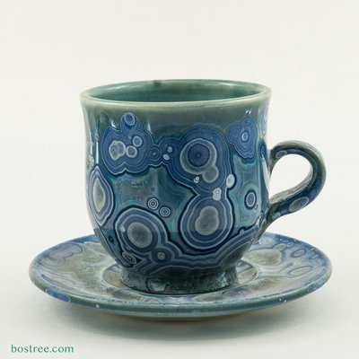 Crystalline Glaze Cup and Saucer by Andy Boswell #ABCS004
