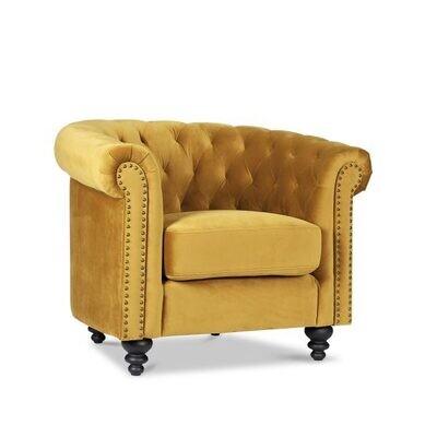 Custom Made Velvet Chesterfield Sofa Single Seat