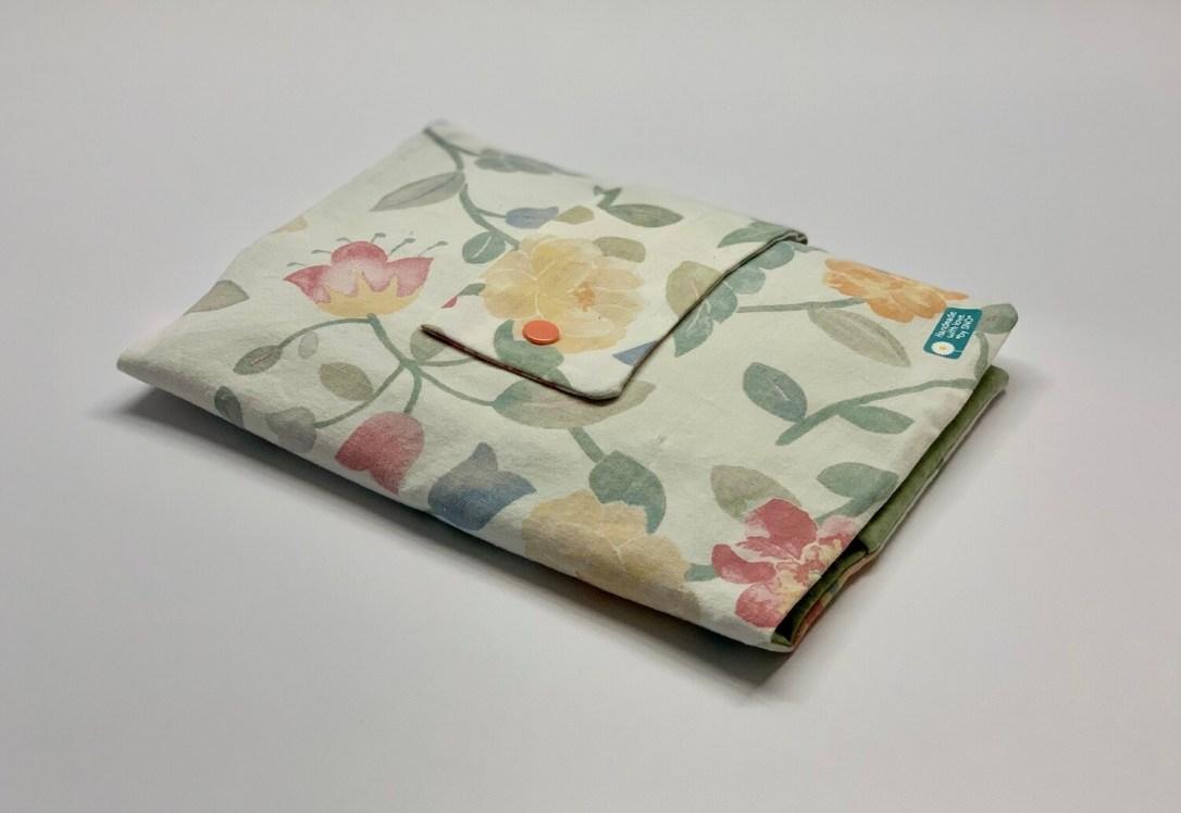 Tasche für Kissen - Blumen/Grün